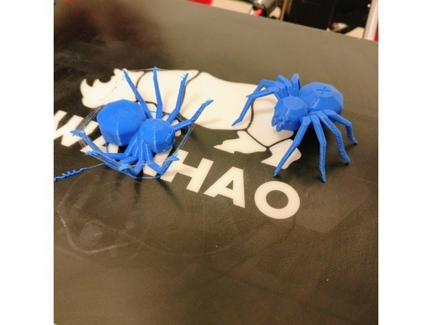 6e3a8338a2e7bdb703fcaad2e775f841_preview_featured.jpg Download free STL file Torture Spider, 3D-printer torture test - overhangs - cooling - retraction • 3D printing design, printingotb