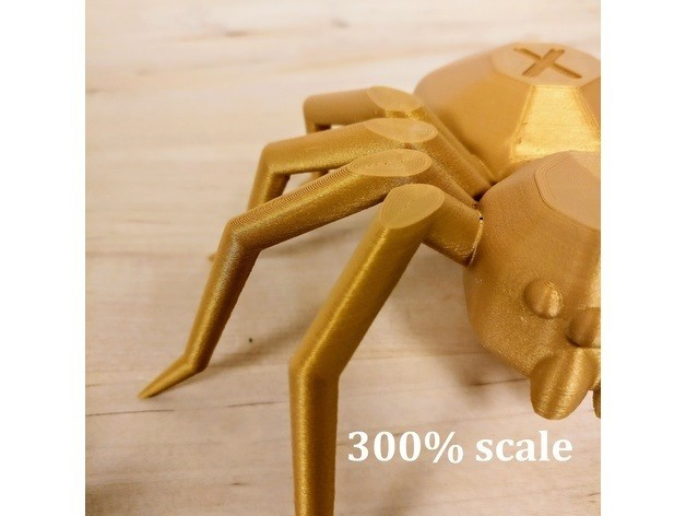 92494b2031ace9f15e89c16f3c601d79_preview_featured.jpg Download free STL file Torture Spider, 3D-printer torture test - overhangs - cooling - retraction • 3D printing design, printingotb