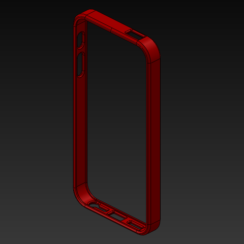 STL files Iphone 5 - 5S Bumper, ArcStudio