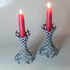 Free Wormhole Candle Holders STL file, JamieLaing