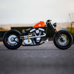 harley davidson 3D printed.jpg Download free STL file Harley Davidson • Design to 3D print, Guillaume_975