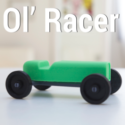 Download free 3D printer designs OL' RACER, 3DShook