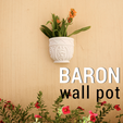 Download free STL BARON WALL POT, 3DShook