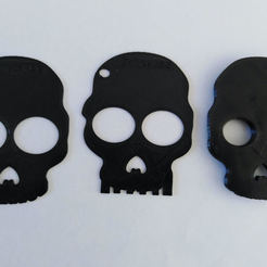 photo impression.jpg Download STL file Skull and crossbones set (key chain) • 3D printer object, max123
