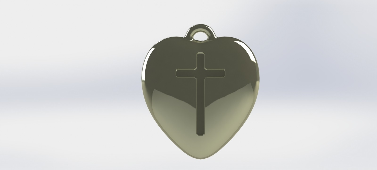 heart-04.JPG Download STL file Pendant Heart with a Cross printable model • Object to 3D print, mahsali