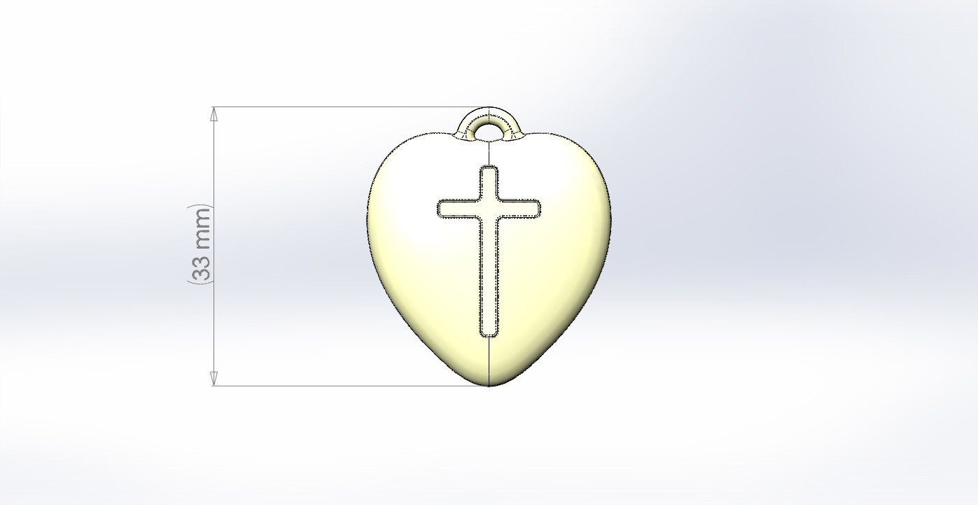 dimension.JPG Download STL file Pendant Heart with a Cross printable model • Object to 3D print, mahsali