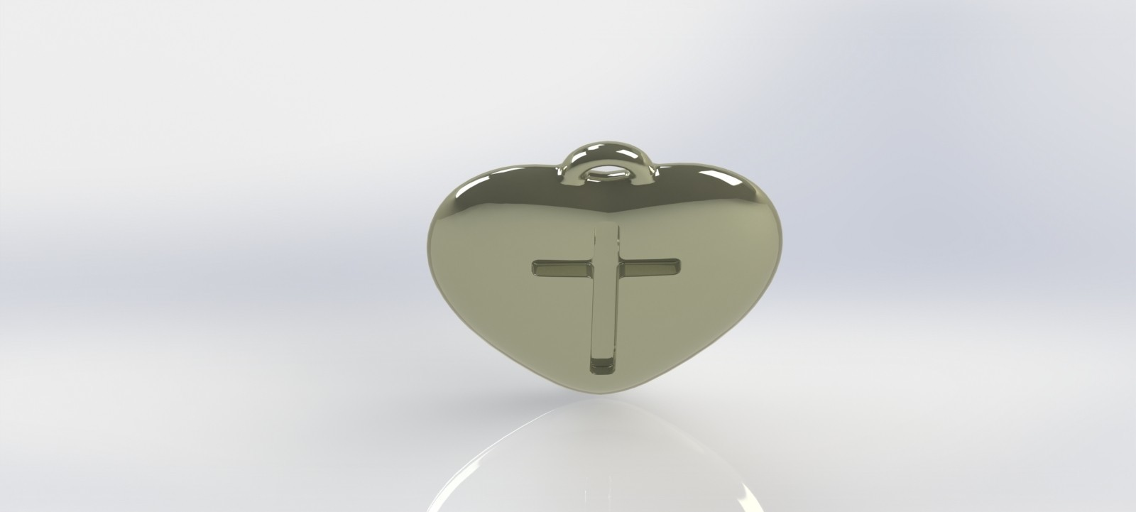 heart-05.JPG Download STL file Pendant Heart with a Cross printable model • Object to 3D print, mahsali