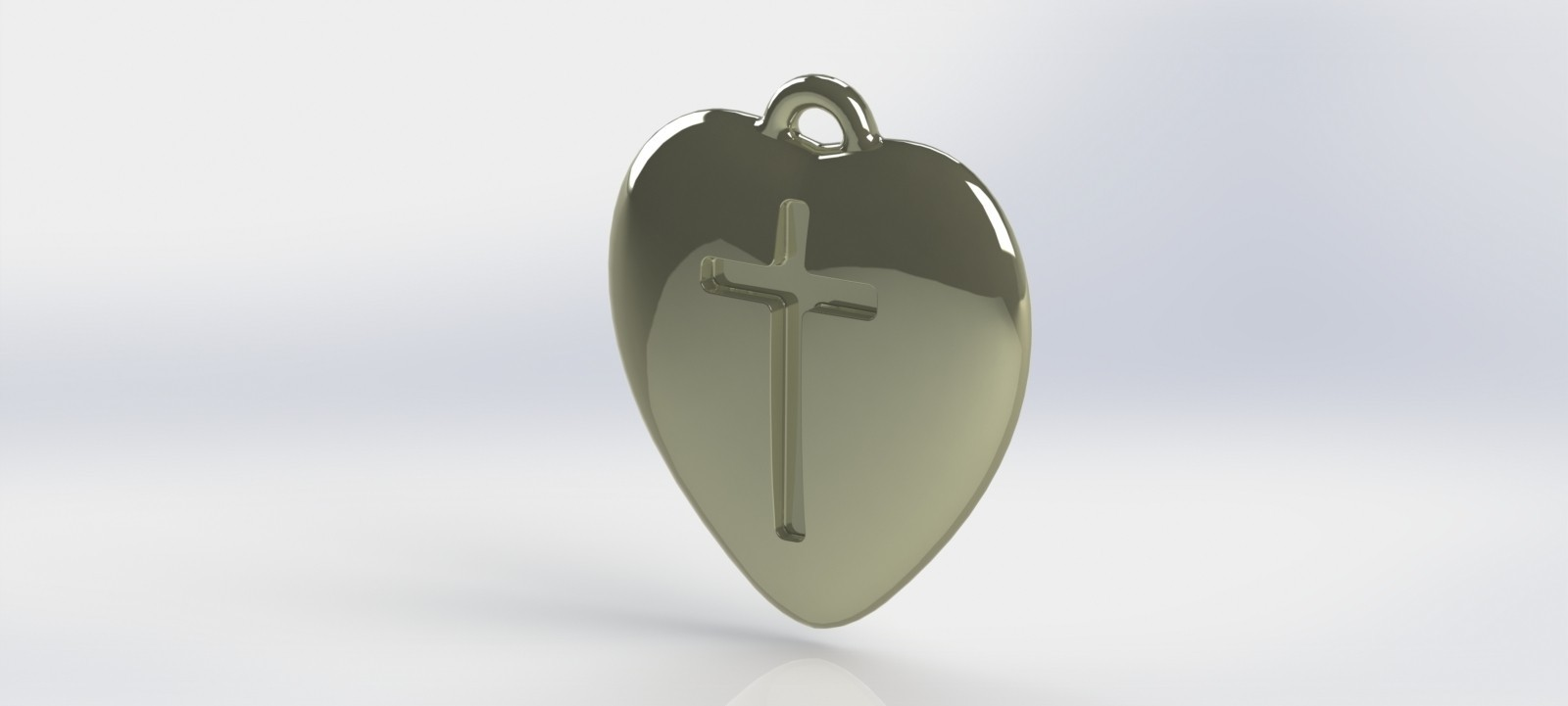 heart-01.JPG Download STL file Pendant Heart with a Cross printable model • Object to 3D print, mahsali