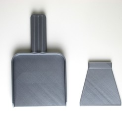 Free STL Mini Desktop Dust Pan and Scrapper, JonathanK1906