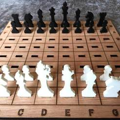 Download free STL Laser Cut Chess Game, JonathanK1906