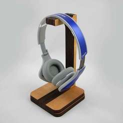 Download free 3D model Headphone Stand (Laser Cut), JonathanK1906
