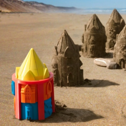Free 3D model Customizable Sand Castle Mold, JonathanK1906