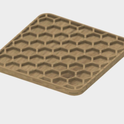 Capture d'écran 2017-10-31 à 09.24.03.png Download free STL file Honeycomb Coaster • 3D print design, JonathanK1906