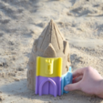 Download free STL file Customizable Sand Castle Mold • 3D printing template, JonathanK1906