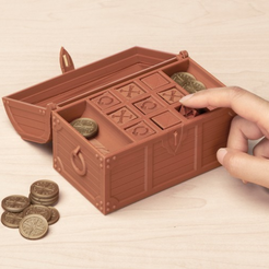 Capture d'écran 2017-08-29 à 17.10.06.png Download free STL file Treasure Tic Tac Toe • 3D printable model, JonathanK1906