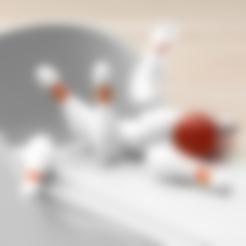 Bowling_Lane.stl Télécharger fichier STL gratuit Jeu de bowling miniature • Objet pour imprimante 3D, JonathanK1906