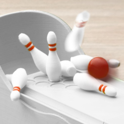 Free Miniature Bowling Game 3D model, JonathanK1906