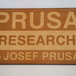 Download free 3D printer designs Prusa Research Logo, JonathanK1906