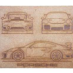 Download free 3D printer designs Porsche GT2 RS1 2017 (Laser Cut), JonathanK1906