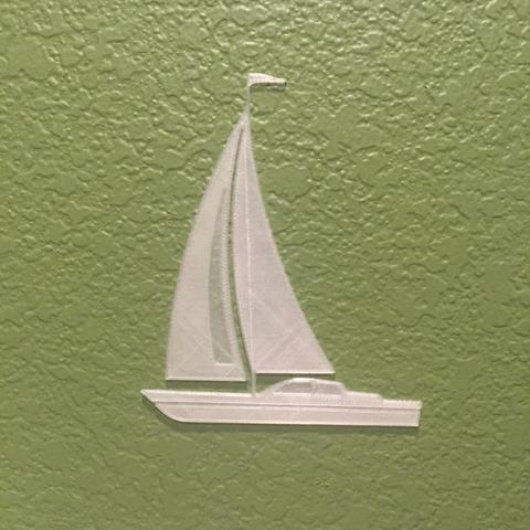Free 3D printer designs Sail Boat, JonathanK1906