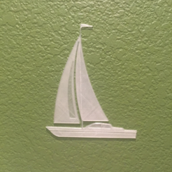 Free 3D printer designs Sail Boat, JonathanK1906