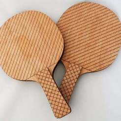 Download free 3D printer designs Ping Pong Paddles (Laser Cut), JonathanK1906