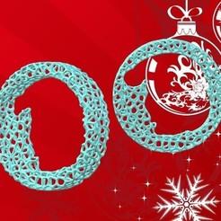Adorno Papa Noel.jpg Télécharger fichier STL Ornement de la roue de Noël de Voronoi - style Père Noël • Design pour imprimante 3D, Magonet