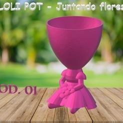 LOLI POT - Juntando Flores.jpg Download GCODE file LOLI POT - Gathering Flowers • Object to 3D print, Magonet