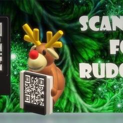 captura de pantalla.jpg Télécharger fichier STL Porte-message du QR de Noël - Joyeux Rudolfh ! • Objet imprimable en 3D, Magonet