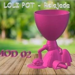 LOLI POT - Relajada.jpg Download STL file LOLI POT - Relaxed • 3D printing object, Magonet