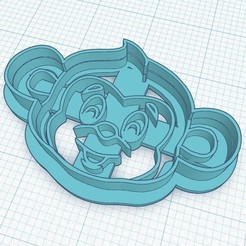 Descargar diseños 3D COOKIE CUTTER - monkey-shaped head, Magonet