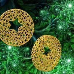Adorno Estrellac2.jpg Télécharger fichier STL Ornement de roue de Noël de Voronoï - Style étoile • Modèle pour imprimante 3D, Magonet