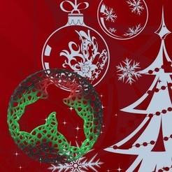 Adorno Muerdago 2.jpg Télécharger fichier STL Roues de Noël plates de Voronoi • Objet pour impression 3D, Magonet