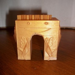 Free 3d print files triumphal arch stratomaker with roosters, Nico3295