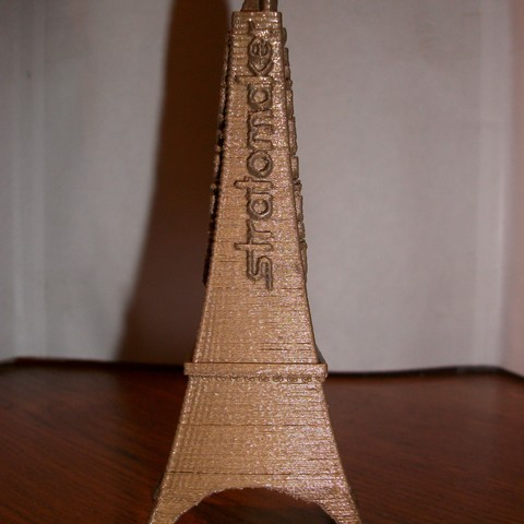 Free EIFFEL STRATOMAKER TOWER WITH THE HEAD OF A COQ STL file, Nico3295