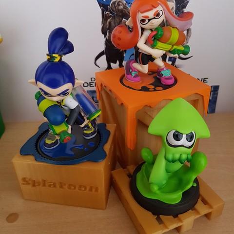 3D printer models Amiibo splatoon display, chino52