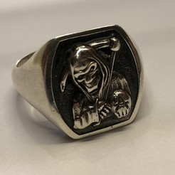 Download free 3D printer designs reaper signet ring, Janusz
