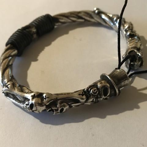 Download free STL file skull bracelet • 3D printer model, Janusz