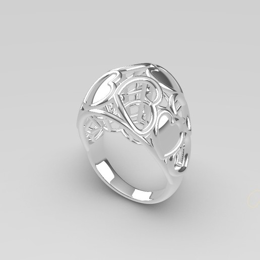 Download free 3D printing files Heart ring, Janusz