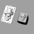 Download free 3D print files card with a skull, Janusz