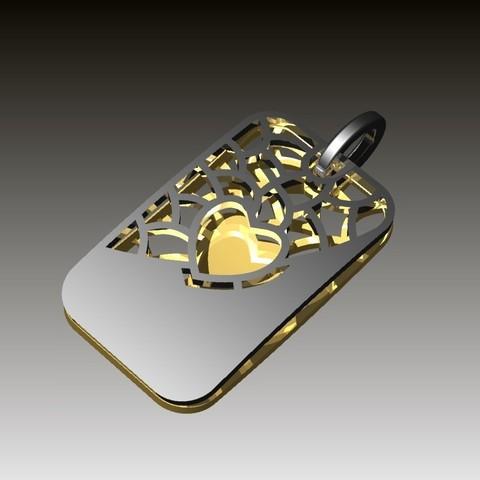 Impresiones 3D gratis colgante de corazón, Janusz