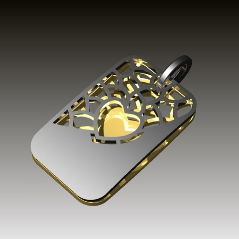 Download free 3D printing models heart pendant, Janusz