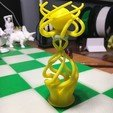 Free Queen of my Abstract Chess Set design STL file, Sevulan