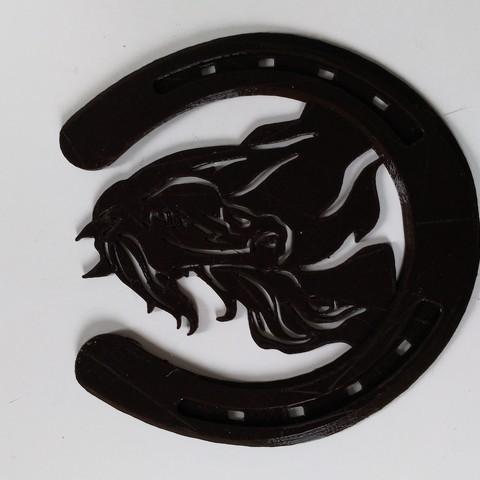 P_20180402_183248_vHDR_On.jpg Download STL file Under glass horseshoe / Horse shoe coaster • 3D print model, JustPriNt3D