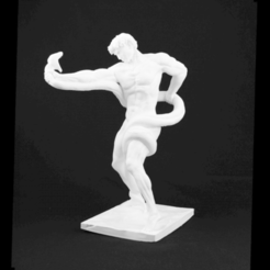 Download free 3D printing designs Athlete Wrestling a Python, Cool3DModel