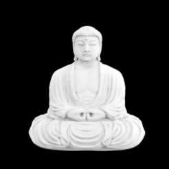 Free 3D printer files The Great Buddha at Kamakura, Japan, Cool3DModel