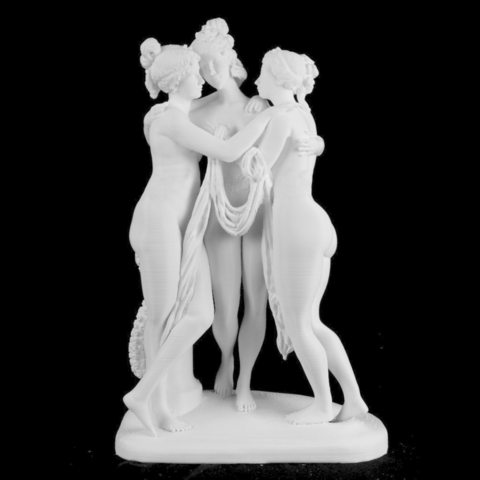 Free 3D file The Three Graces at the Hermitage Museum, Russia, Cool3DModel