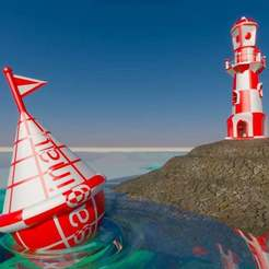 Download free STL file Lighthouse-Buoy, Dual extruder Test • 3D printer model, saginau