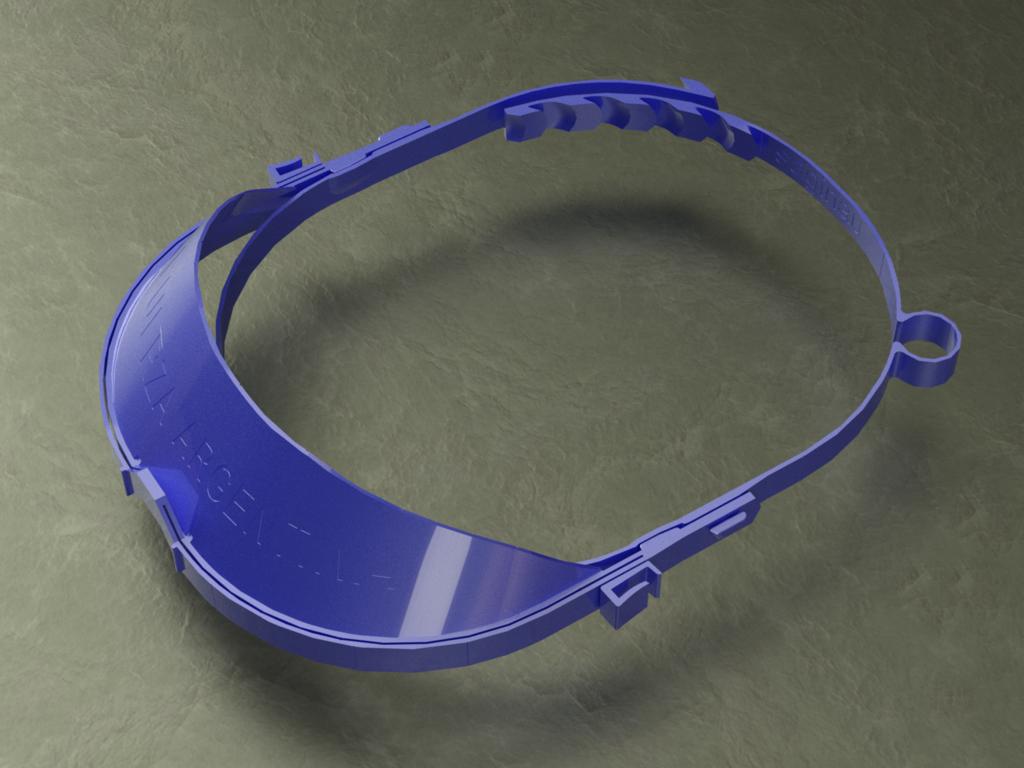 facial_saginau_optimizada_margen_de_visera_maximo_render-Temp0019.png Download free STL file Enhanced Face Protection 36grams, can be printed stacked • Design to 3D print, saginau