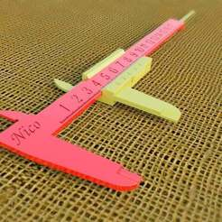 Download free STL file vernier caliper • 3D printer template, saginau